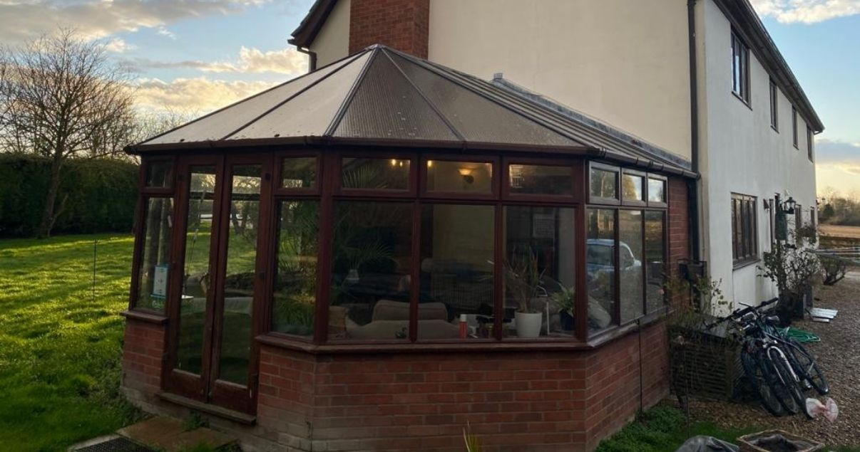 Before a conservatory roof replacement