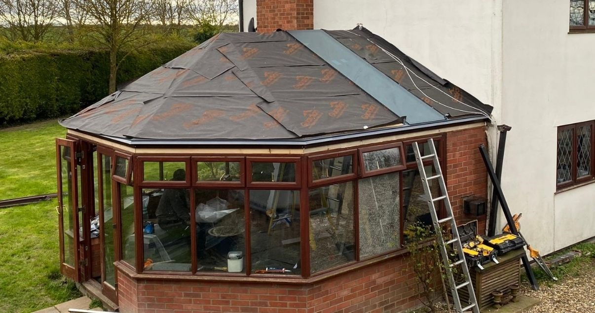 installing the insulated conservatory roof