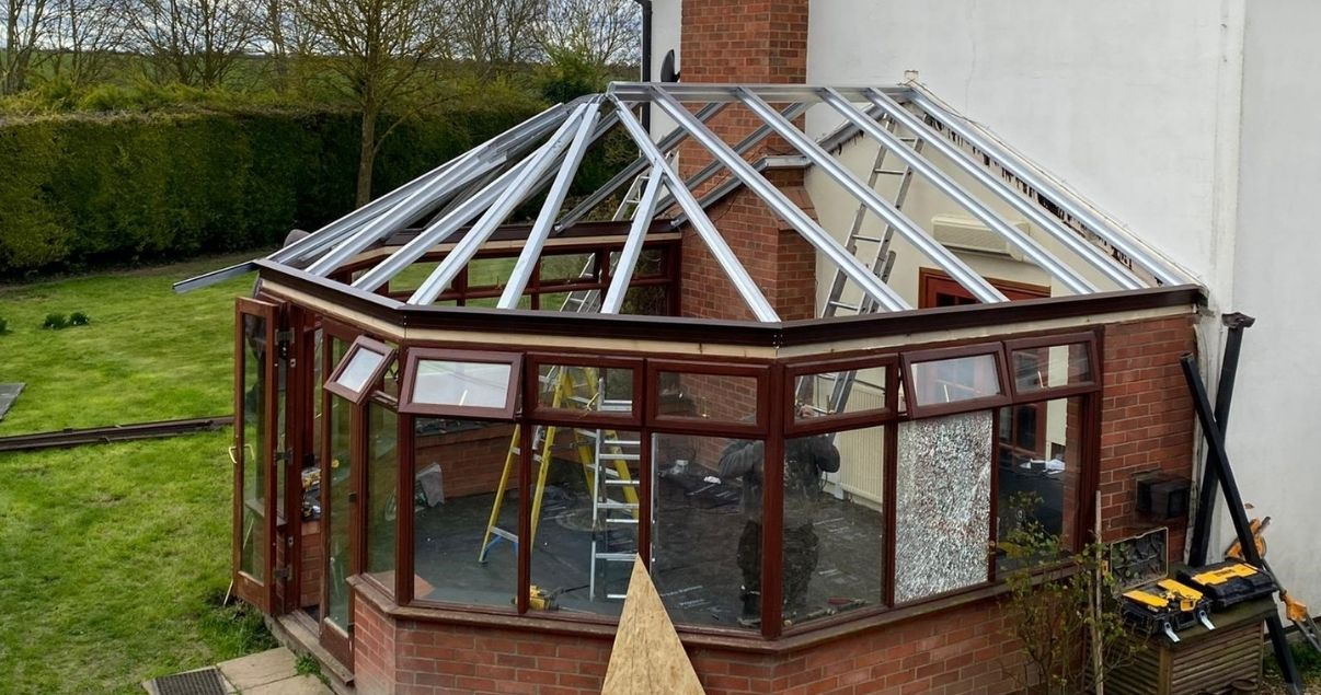 starting the installation of a Guardian Warm Roof