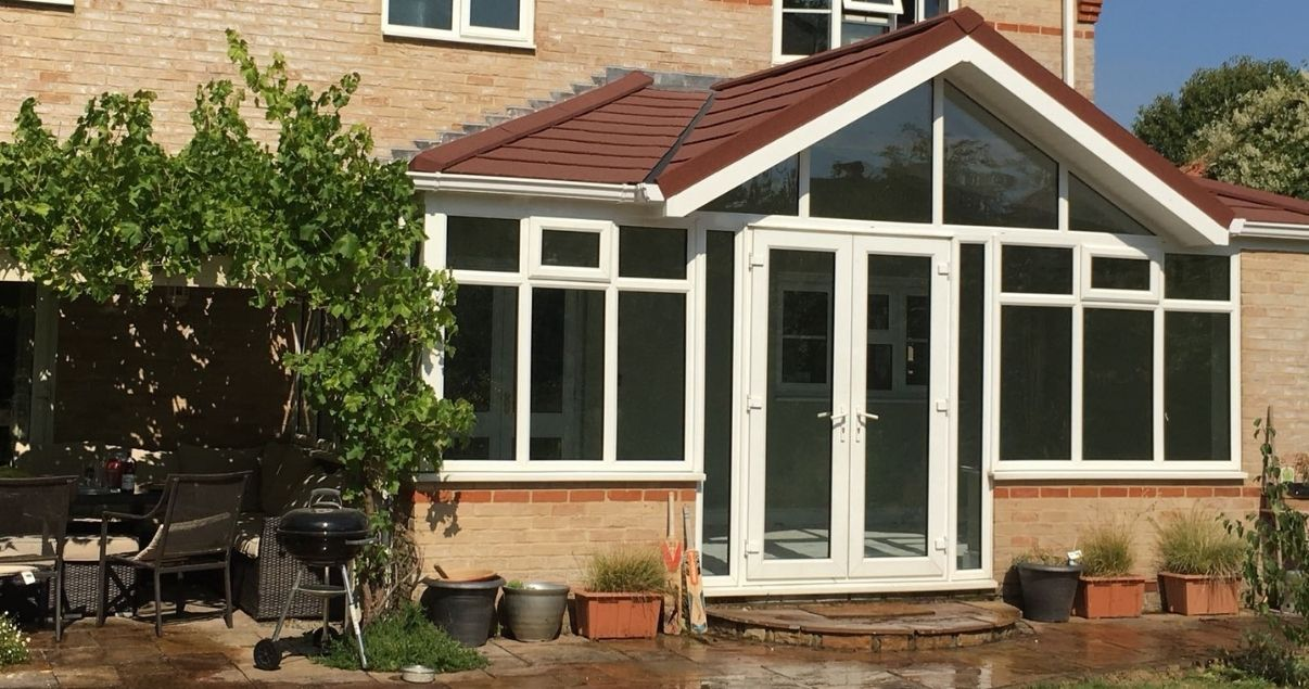 Gable fronted conservatory roof replacement with a guardian roof