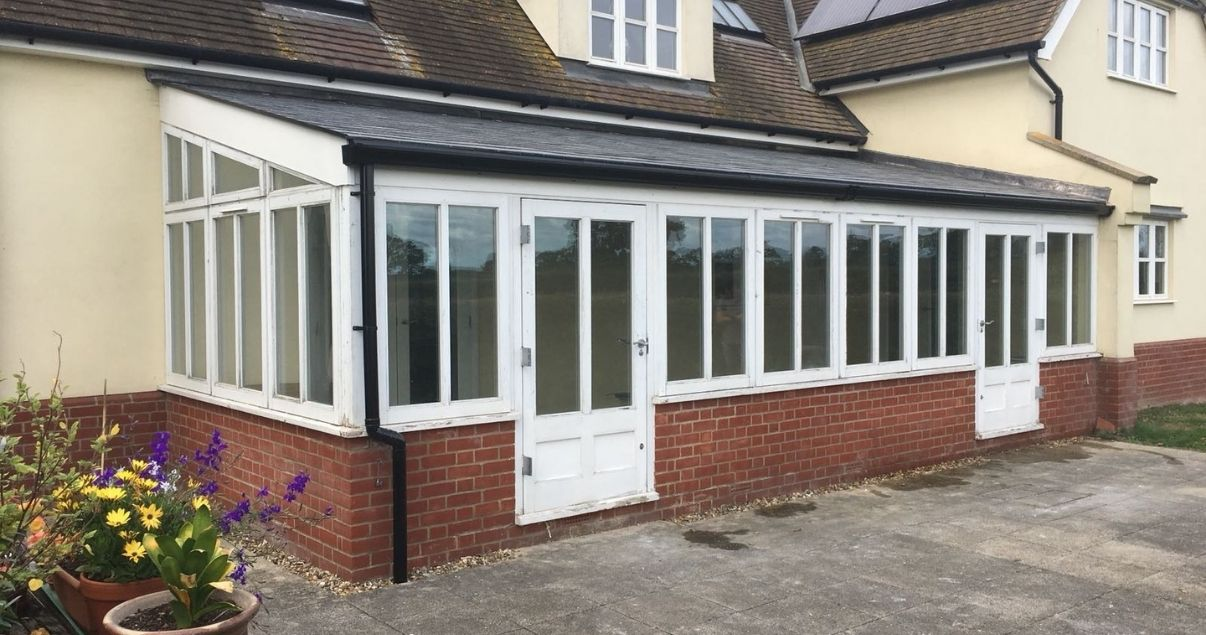 Lean to conservatory roof replacement with a guardian roof