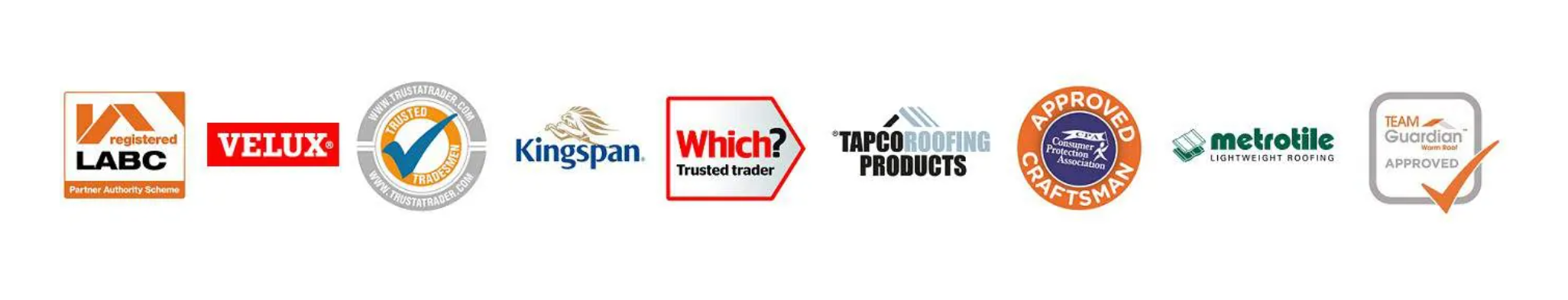 Projects 4 Roofing many accreditations including LABC and Team Guardian