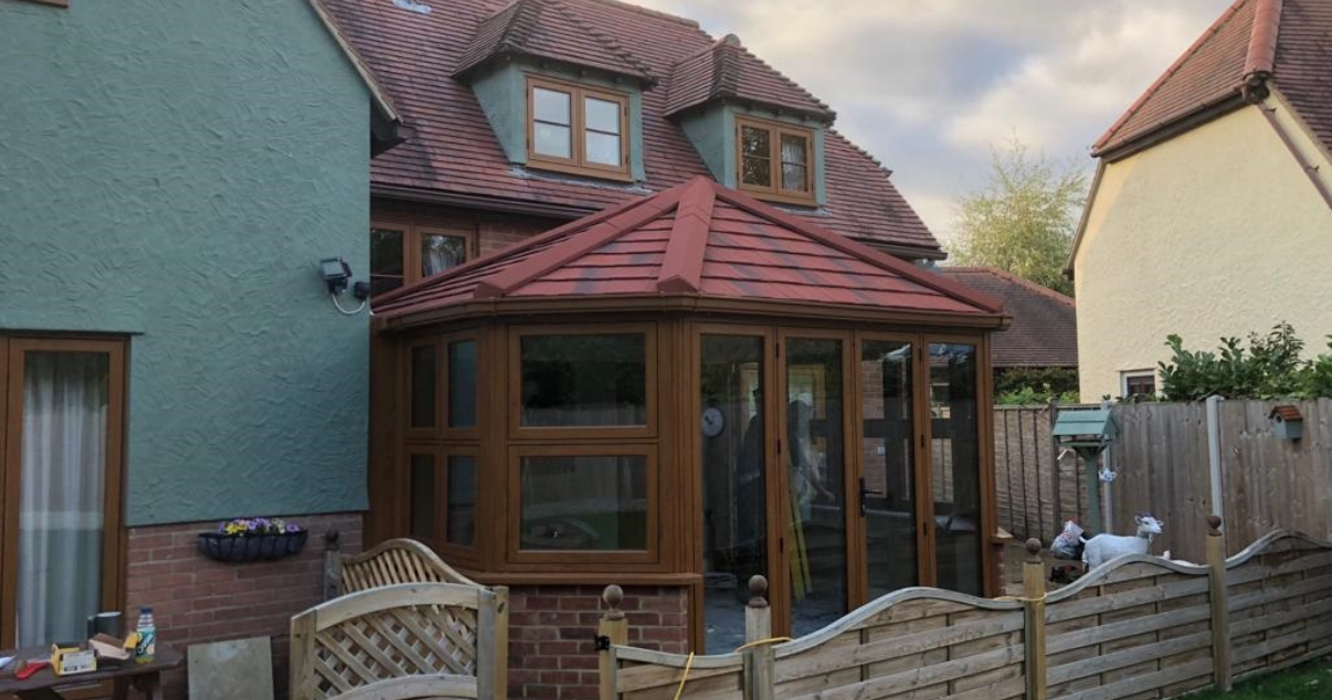 Converted Conservatory With Antique Red Metrotile Roof Tiles