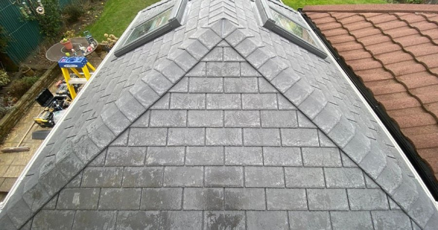 Guardian Warm Roof with grey Tapco Roof Slates