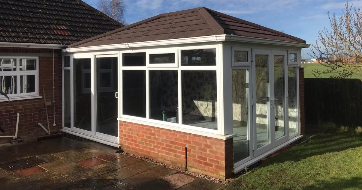 Metrotile roof tiles on converted conservatory
